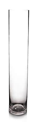 CYSExcel Glass Cylinder Vase (Set of 6); 22'' H x 4'' W x 4'' D WYF078279794113