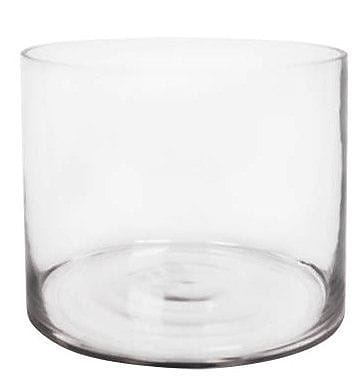 CYSExcel Glass Cylinder Vase (Set of 4); 8'' H x 10'' W x 10'' D WYF078279794119