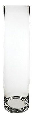 CYSExcel Glass Cylinder Wedding Vase (Set of 6); 20'' H x 5'' W x 5'' D WYF078279794121