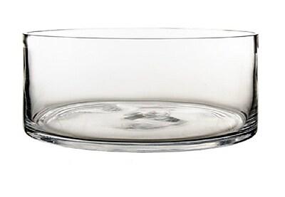 CYSExcel Glass Cylinder Vase (Set of 4); 4'' H x 10'' W x 10'' D WYF078279794122