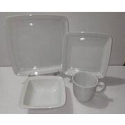American Atelier Square 16 Piece Dinnerware Set; White