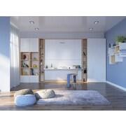 Multimo 90'' Cube Unit Bookcase; White/Wood