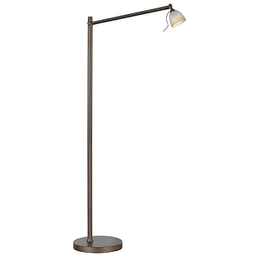 Kendal lighting ibis 563939 task floor lamp oil rubbed for Staples halogen floor lamp