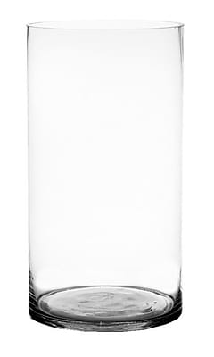 CYSExcel Glass Cylinder Vase (Set of 2); 20'' H x 10'' W x 10'' D WYF078279794140
