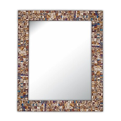 DecorShore Wall Mirror; Gold