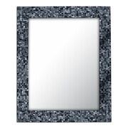 DecorShore Wall Mirror; Silver/Black