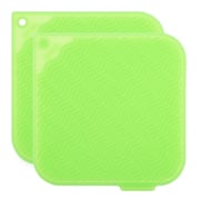 KMN Silicone Pot Holder (Set of 2); Cucumber