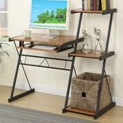 A&J Homes Studio Bryant Writing Desk; Brown/Black
