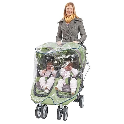 Babyroues Comfy Baby Universal Double Jogging Stroller Raincover, Clear (920) IM16D6031
