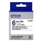 Epson® LabelWorks LK-2WBN 6 mm Label Cartridge, Black on White