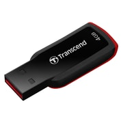Transcend® JetFlash® 360 USB 2.0 Flash Drive, 4GB, Red (TS4GJF360)