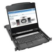 Tripp Lite NetDirector 8-Port 1U Rack-Mount KVM Console, Black (B030-008-17-IP)
