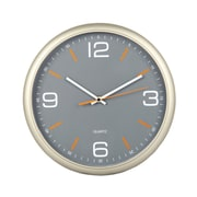 "Tempus Contemporary Wall Clock with Silent Sweep Quiet Movement, 11.8"",  Gray Finish (STC1504FE)"