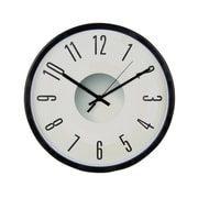 "Tempus Contemporary Wall Clock with Silent Sweep Quiet Movement, 11.75"", Black (STC15071FE)"