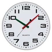 "Tempus Contemporary Wall Clock with Silent Sweep Quiet Movement, 13"",  Silver Finish (TC2388FS)"