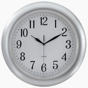 "Tempus Atomic Wall Clock with Radio Controlled Movement, 14"", Silver Finish (TC6083S)"
