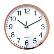 "Tempus Contemporary Metal Wall Clock with Silent Sweep Quiet Movement, 12"",  Chrome Finish (TC6645AC)"