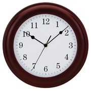 """Tempus Traditional Wood Wall Clock, 12"""", Mahogany Finish (STC8743FE)"""
