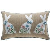 14 Karat Home Inc. Spring Bunny Lumbar Pillow