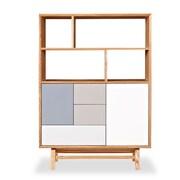 Kardiel Mid-Century Modern 3 Drawer 2 Door Platform Upright Cabinet; Natural