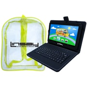 "LINSAY F10XHDCKBAG 10"" Quad Core Tablet w/ Black Keyboard and Bag Pack Android"