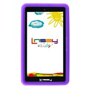 "LINSAY F7XHDKIDSPURPLE 7"" Quad Core Tablet w/ Purple Kids Defender Case Android"