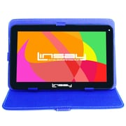 """LINSAY F10XHDBCBLUE 10"""" Quad Core Tablet w/ Blue Case Android"""