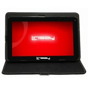 "LINSAY F10XHDB 10"" Quad Core Tablet w/ Black Case Android"
