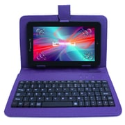 "LINSAY F7XHDBKPURPLE 7"" Quad Core Tablet w/ Purple Keyboard Android"