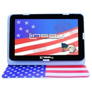 """LINSAY F10XHDBCUSAS 10"""" Quad Core Tablet w/ USA Style Case Android"""
