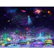 Wallhogs Space City Glossy Poster; 18'' H x 24'' W