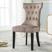 Belleze Premium Nailhead Parson Chair (Set of 2); Taupe