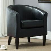Belleze Barrel Chair; Black