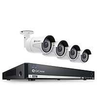 Amcrest QCAM 3MP 8-CH/4-Camera NVR POE Security System with 2TB Hard Drive