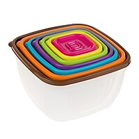 Classic Cuisine 14 Piece Colored Food Storage Set (Square)
