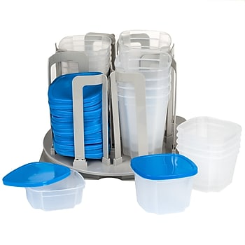 Chef Buddy M031015 Swirl Around 49 Piece Food Storage Organizer