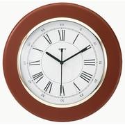 "Tempus Traditional Wood Wall Clock with Daylight Savings Auto-Adjust Movement, 13"", Mahogany Finish (TC6027R)"