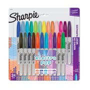 Sharpie® Color Burst Permanent Markers, Fine Point, Assorted Colors, 24/Pack (1949557)