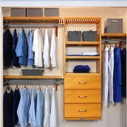 John Louis Home Deep Deluxe 96'' W Closet System; Honey Maple