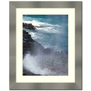 Frames By Mail Stainless Steel Finished 2'' Wide Wall Picture Frame; 5'' x 7''
