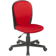 Chintaly Mid-Back Desk Chair; Red