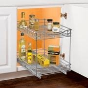 Lynk 14'' W x 21'' D Roll Out Double Shelf Two Tier Sliding Pull Out Drawer
