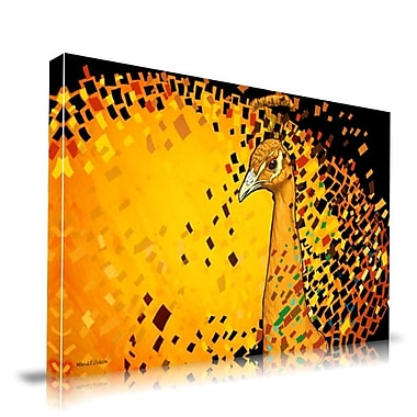 Maxwell Dickson Peacock Graphic Art on Wrapped Canvas; 16'' H x 20'' W