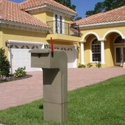 Mail Gator Locking Column Box; Sandstone
