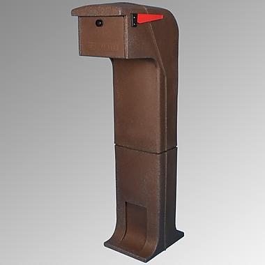 Mail Gator Locking Column Box; Dark Brown