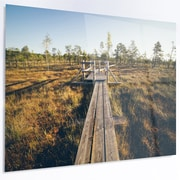 DesignArt 'Retro Grainy Film Look Footpath' LED Photographic Print on Metal