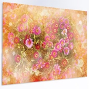 DesignArt Floral 'Spring Background w/ Little Flowers' Graphic Art on Metal; 12'' H x 28'' W x 1'' D