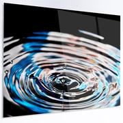 DesignArt 'Beautiful Splash of Purple Water' Photographic Print on Metal; 30'' H x 48'' W x 1'' D
