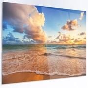 DesignArt 'Beautiful Cloudscape over Beach' Photographic Print on Metal; 40'' H x 48'' W x 1'' D