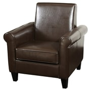 Home Loft Concepts Brooks Club Chair; Chocolate Brown